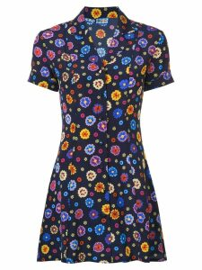 Lhd floral print shirt dress - Blue