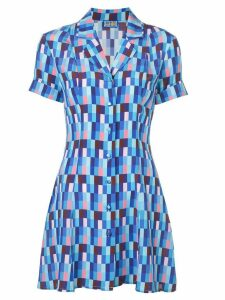 Lhd printed mini shirt dress - Blue