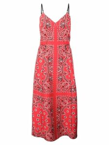 Alexander Wang banda print midi dress - Red