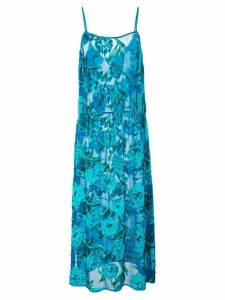 Fleur Du Mal fil coupe tea length dress - Blue