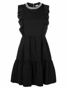Red Valentino sleeveless ruffled dress - Black