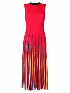 MSGM pleated dress - Red