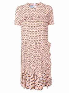 Prada geometric printed dress - Pink