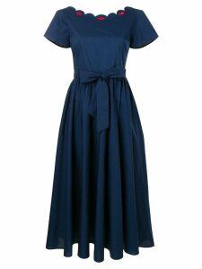 Vivetta belted poplin midi dress - Blue