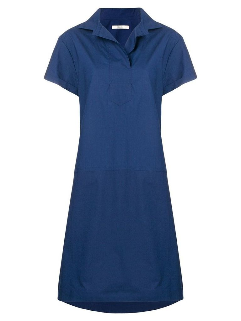 Odeeh shortsleeved flared dress - Blue