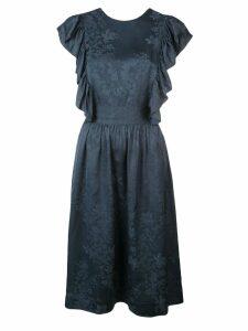 Rosie Assoulin floral criss-cross dress - Blue