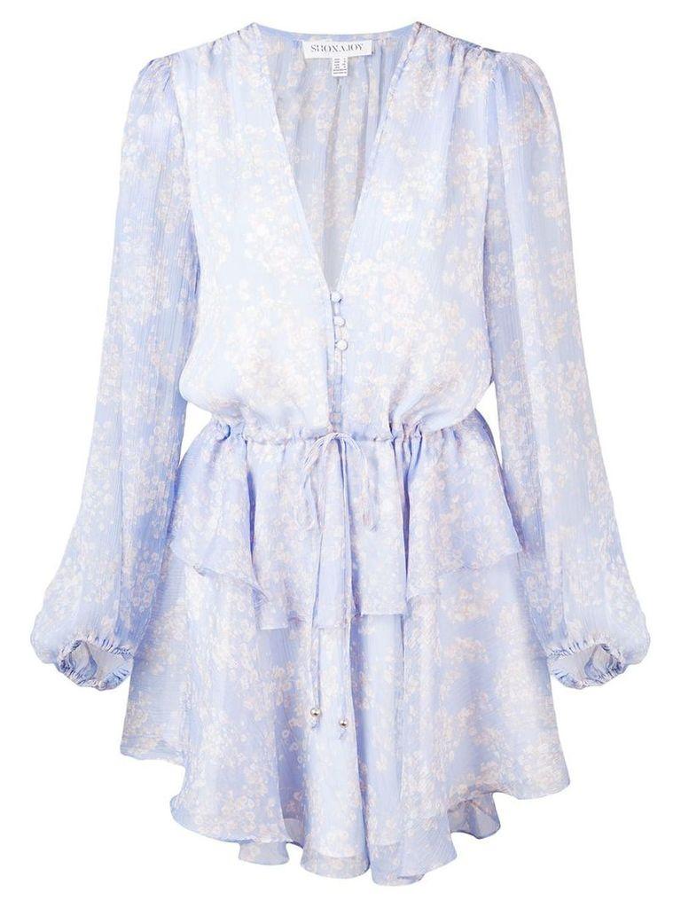 Shona Joy Emilia peplum mini dress - Blue