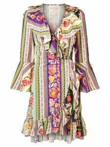 Etro multi-print wrap dress - Purple