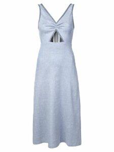 Jill Stuart cut out chambray midi dress - Blue