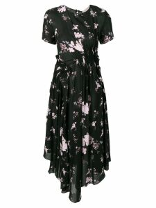 Preen Line wild flower print dress - Black