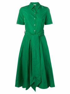 P.A.R.O.S.H. Patricy flared shirt dress - Green