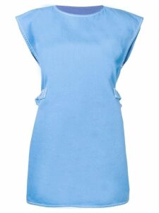 Mm6 Maison Margiela cap sleeve shift dress - Blue
