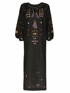 Vita Kin Oscar tie-neck linen dress - Black