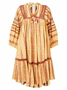 Dodo Bar Or Elena ethnic flared dress - Yellow