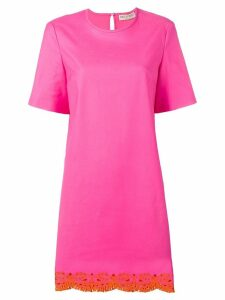 Emilio Pucci Sangallo Embroidered Shift Dress - Pink