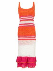 Suboo Carmen knit dress - Orange