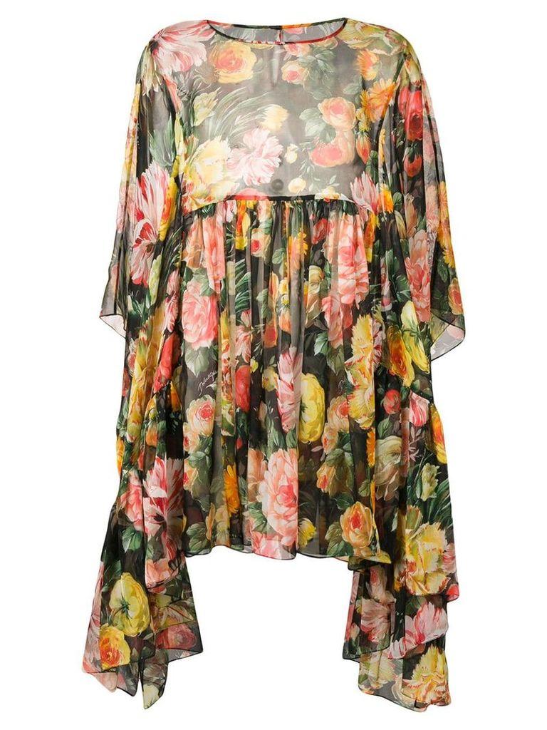 Dolce & Gabbana flared floral dress - Black