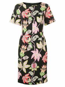 Etro floral print midi dress - Black