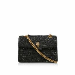 Kurt Geiger London Tweed Kensington X Bag - Black Shoulder Bag
