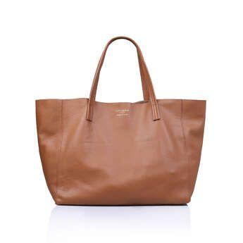 Kurt Geiger London Violet Horizontal Tote - Tan Tote Bag