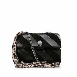 Kurt Geiger London Leather Lg Soho Bag - Black Leather Shoulder Bag