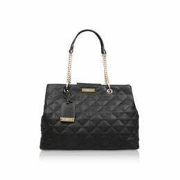 Carvela Blair Quilted Shopper - Black Quilted Tote Bag