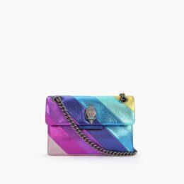 Kurt Geiger London Mini Kensington S Bag - Rainbow Stripe Mini Shoulder Bag