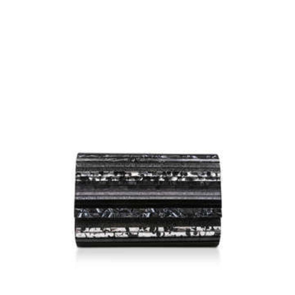 Kurt Geiger London Party Envelope - Black Clutch Bag With Gold Chain Strap