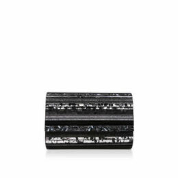 Kurt Geiger London Party Envelope - Black Clutch Bag With Gold Chain Strap