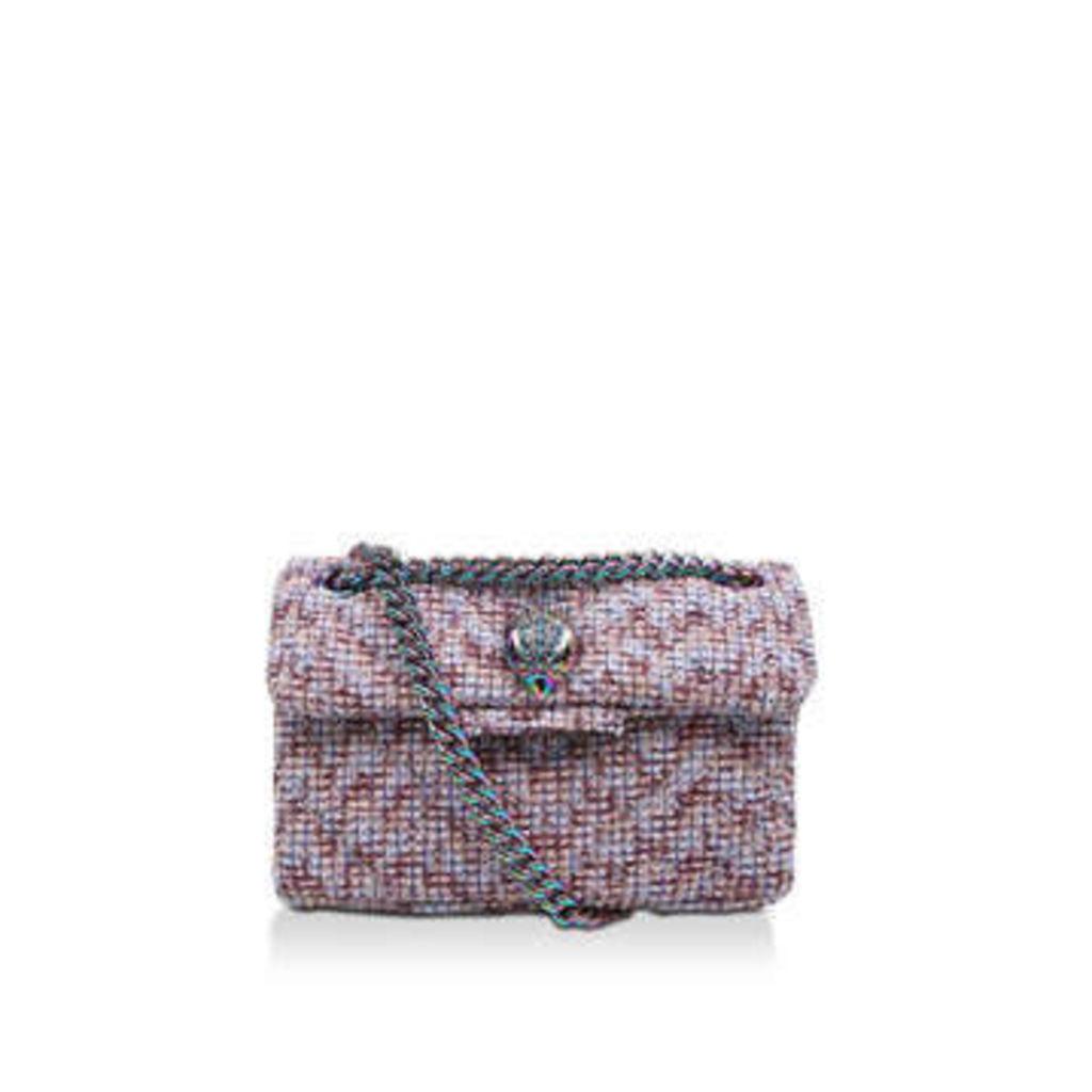 Kurt Geiger London Tweed Mini Kensington X - Pink Mini Cross Body Bag