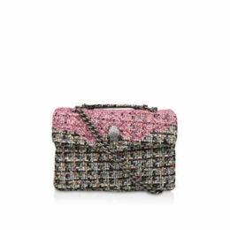 Kurt Geiger London Tweed Kensington X Bag - Multi-coloured Tweed Cross Body Bag