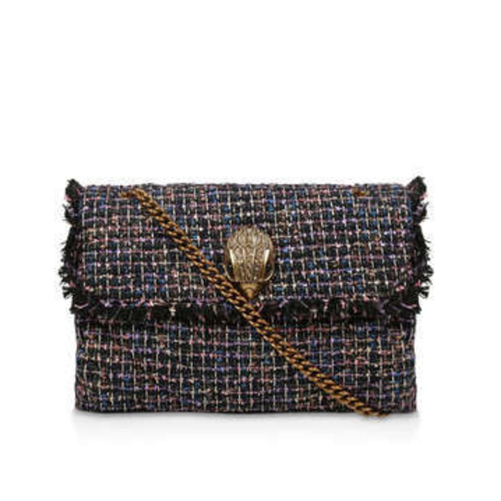 Kurt Geiger London Tweed Xxl Kensington Bag - Dark Blue Tweed Shoulder Bag