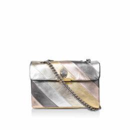 Kurt Geiger London Leather Kensington S Bag - Metallic Stripe Shoulder Bag