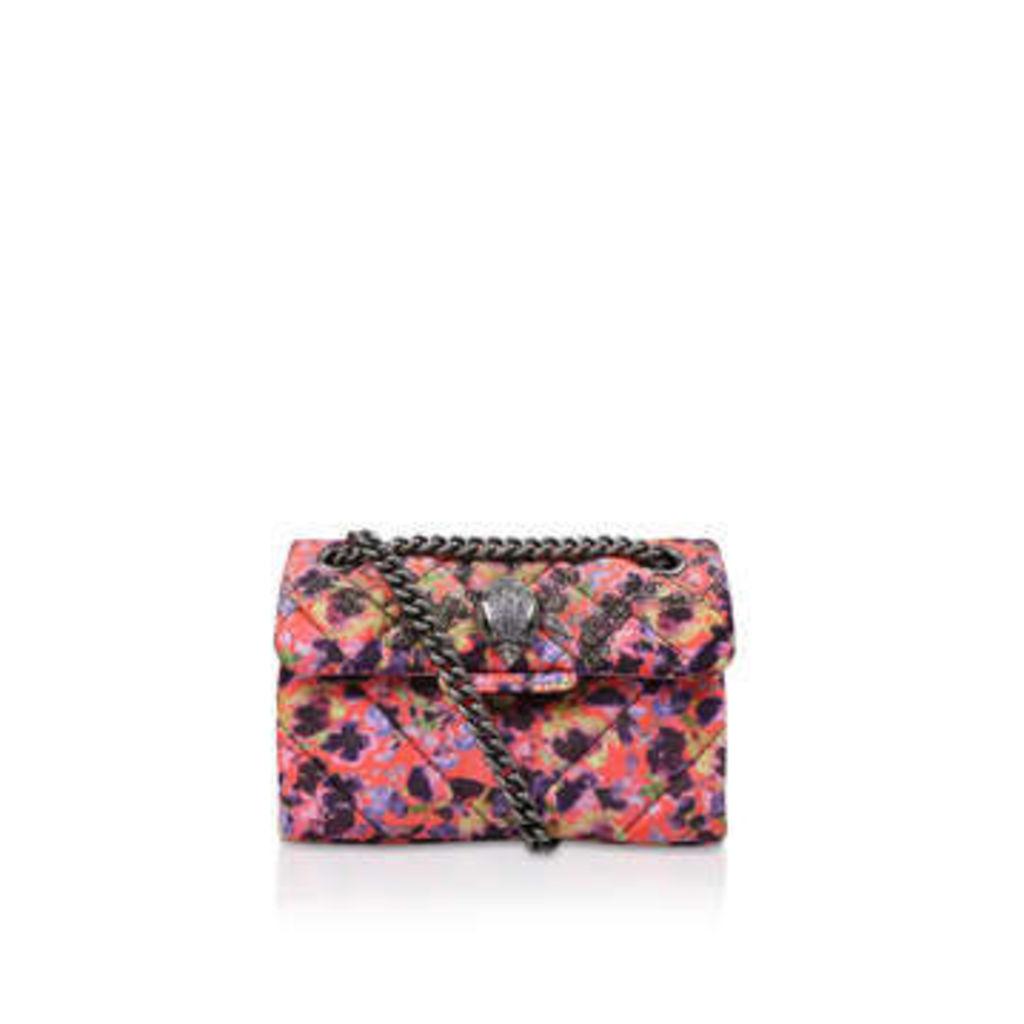 Kurt Geiger London Velvet Mini Kensington X - Floral Velvet Mini Shoulder Bag