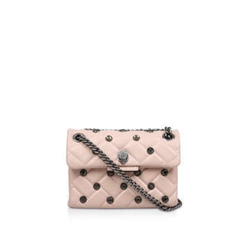 Kurt Geiger London Leather Mini Kensington C - Pale Pink Leather Mini Shoulder Bag