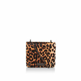 Carvela Rhonda Evening Box Bag - Leopard Print Shoulder Bag