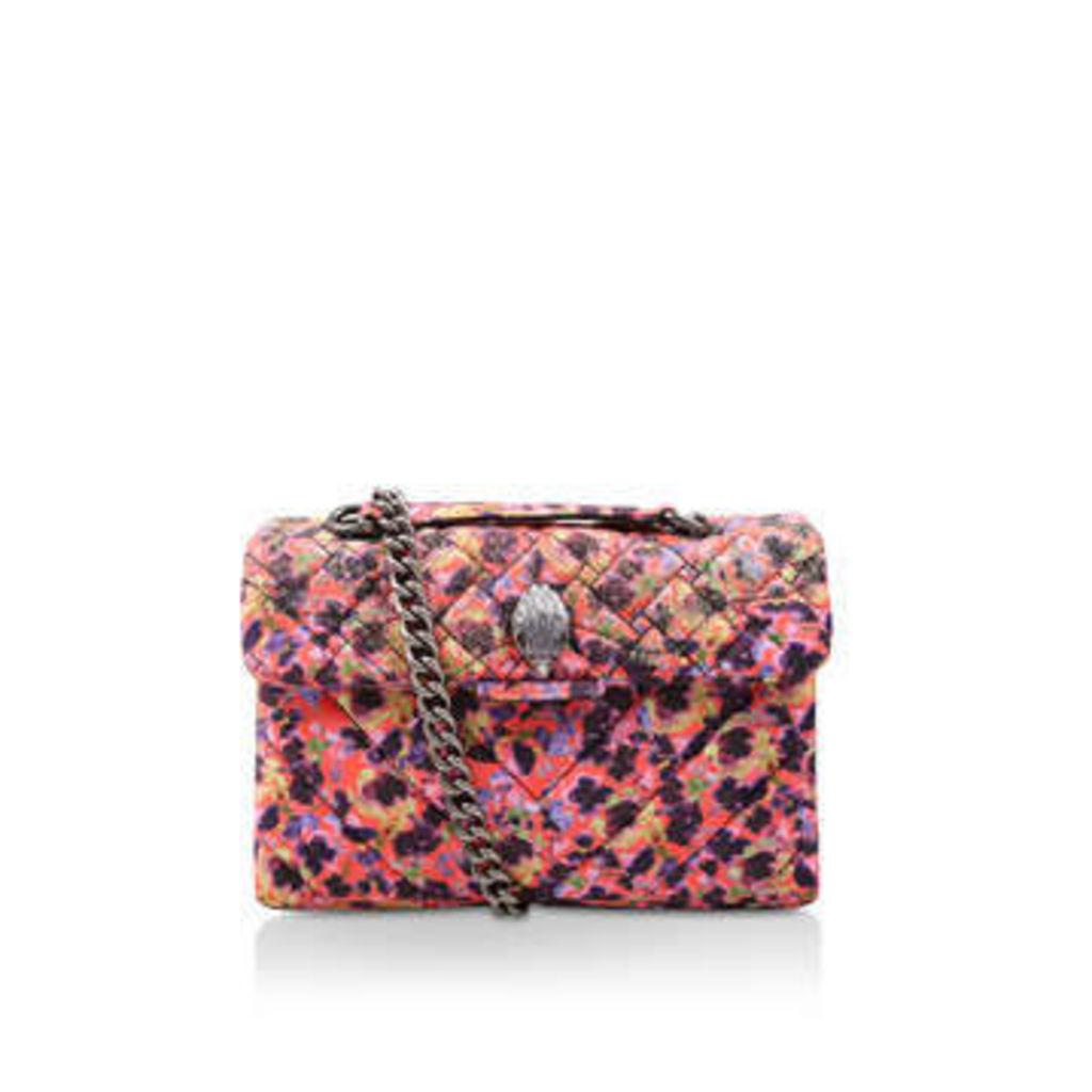Kurt Geiger London Velvet Kensington Bag - Floral Velvet Shoulder Bag