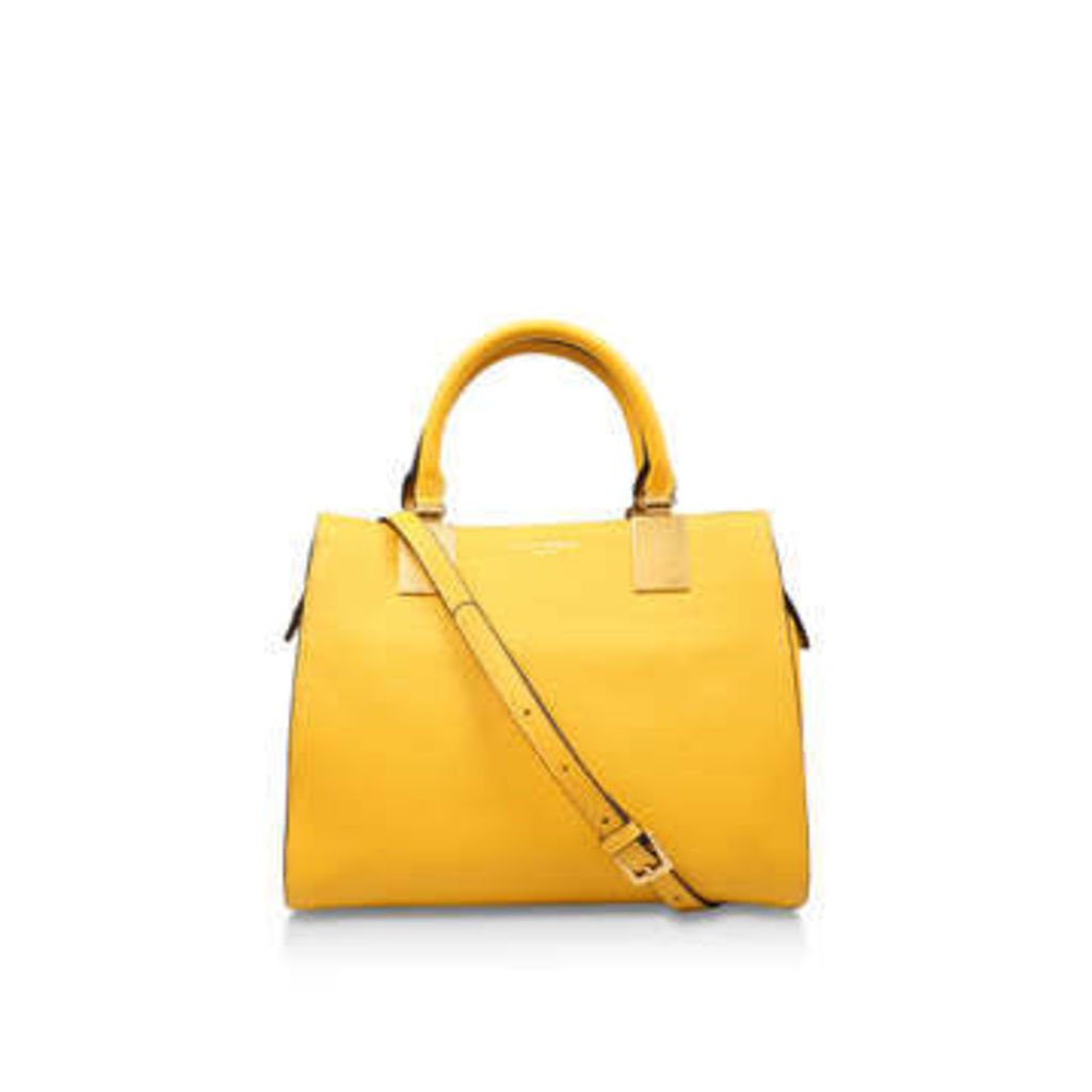 Kurt Geiger London Leather Emma Sm Tote - Yellow Leather Tote Bag