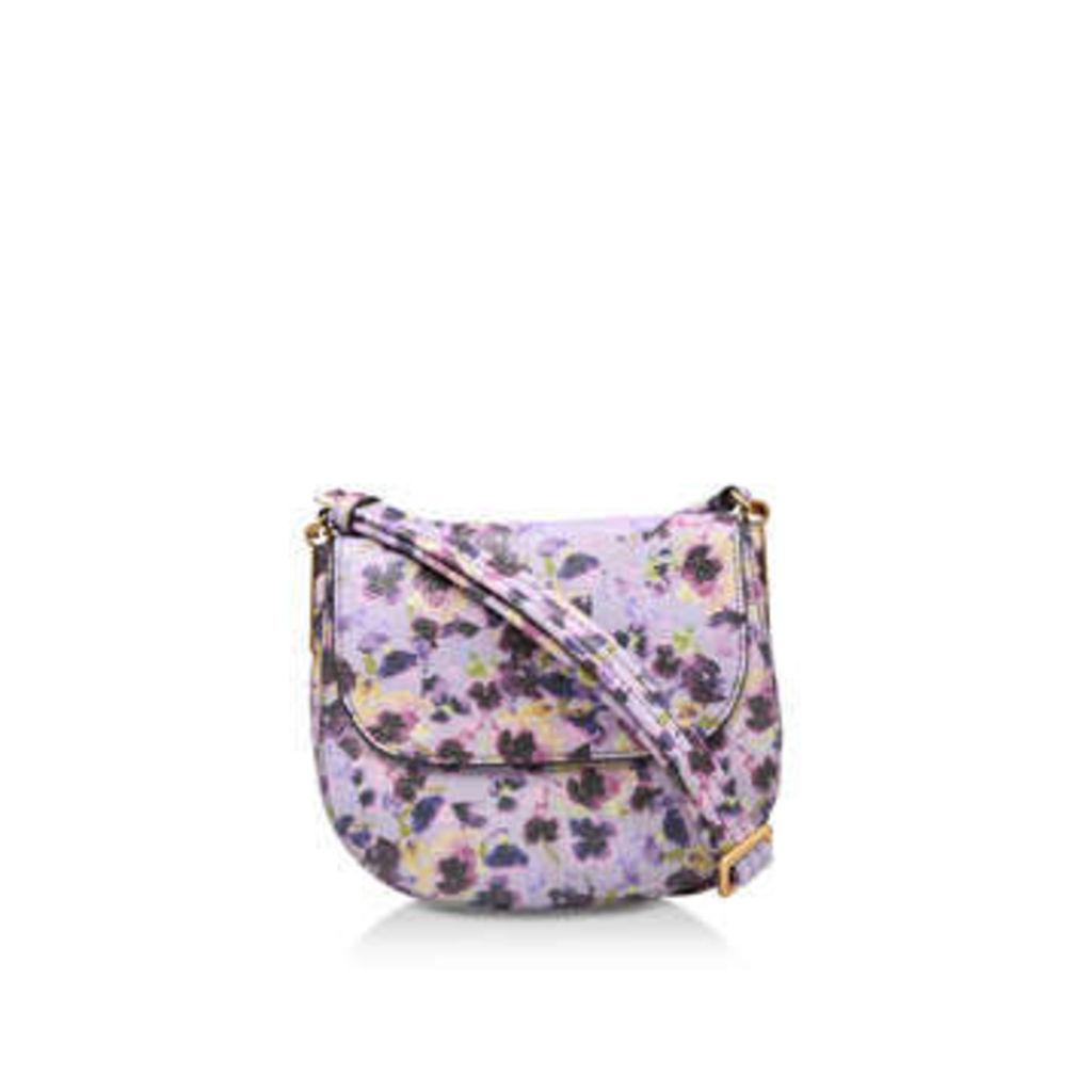 Kurt Geiger London Lthr Emma Sm Saddle - Purple Leather Crossbody Bag
