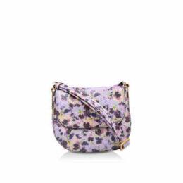 Kurt Geiger London Emma Saddle Bag - Purple Leather Cross Body Bag