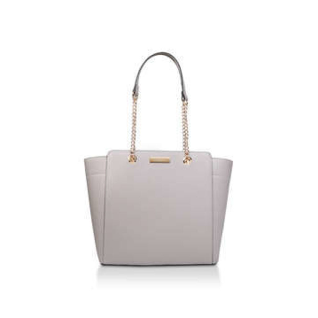 Carvela Rate Tote With Part Chain - Grey Tote Bag