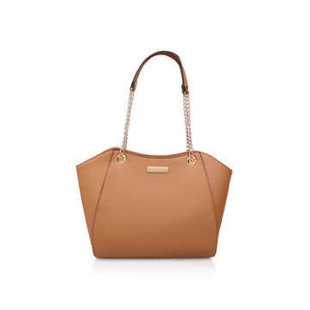 Carvela Bex Chain Handle Tote - Tan Tote Bag