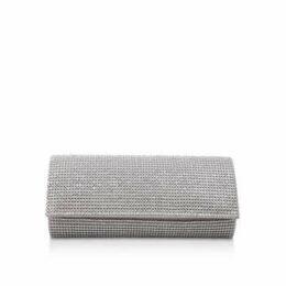 Carvela Glitter - Silver Clutch Bag