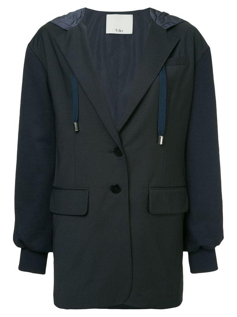 Tibi reversible hooded blazer - Blue