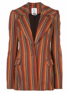 Rosie Assoulin striped blazer - Red