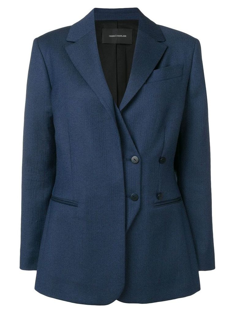 Cédric Charlier double breasted blazer - Blue