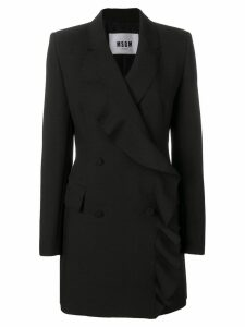 MSGM ruffled long blazer - Black