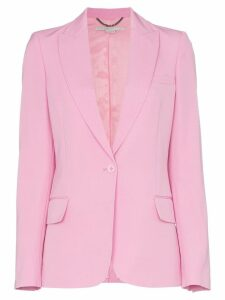 Stella McCartney single-breasted peak lapel wool blazer - Pink