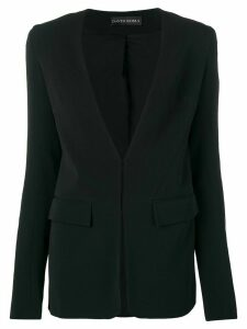 David Koma sequin panel blazer - Black
