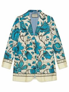 Gucci Silk jacket with watercolor flowers - Neutrals